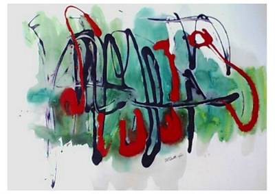 Jazz 2nd Series Painting 5 Art Print by B L Qualls