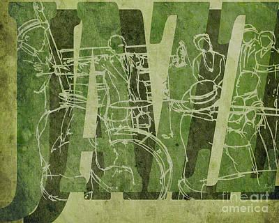 Trumpet Mixed Media - Jazz 31 Satchmo - Green by Pablo Franchi