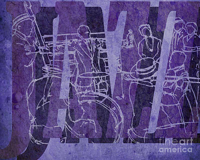Trumpet Mixed Media - Jazz 31 Satchmo - Purple by Pablo Franchi
