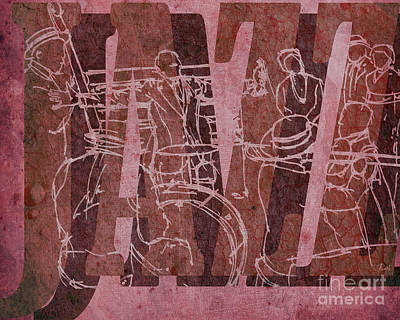 Trumpet Mixed Media - Jazz 31 Satchmo - Red by Pablo Franchi
