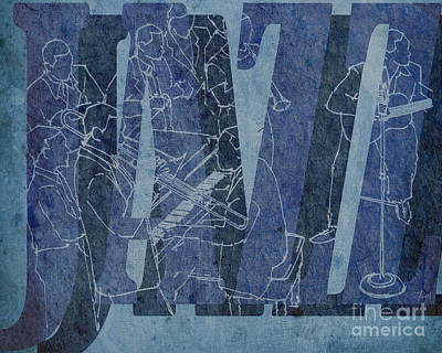 Seven Mixed Media - Jazz 34 Duke Ellington Blue by Pablo Franchi