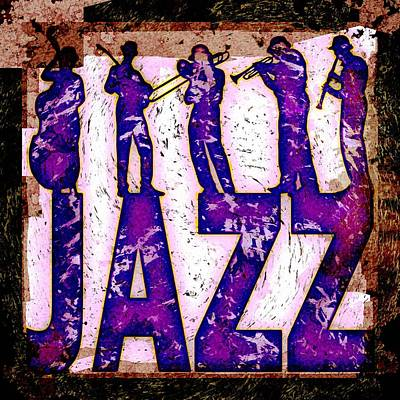 Jazz Royalty Free Images - Jazz Abstract Royalty-Free Image by David G Paul