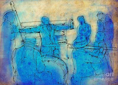Jazz Painting Royalty Free Images - Jazz and blues on stage Royalty-Free Image by Drawspots Illustrations