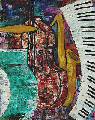 Painting - Jazz by Andrea Vazquez-Davidson