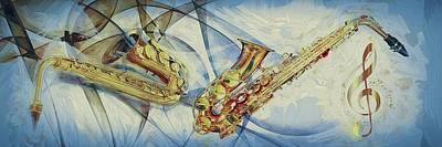 Painting - Jazz Art by Louis Ferreira