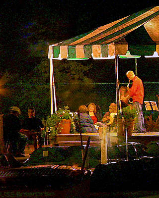 Photograph - Jazz At The Boathouse by David Coblitz