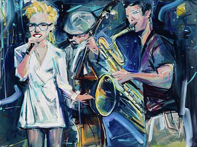 Painting - Jazz Band by Drew Davis