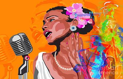Jazz Band Art Print by Neil Finnemore