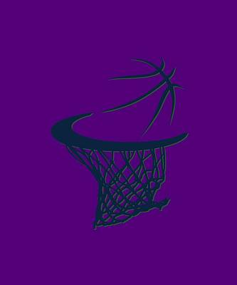 Jazz Basketball Hoop Art Print by Joe Hamilton