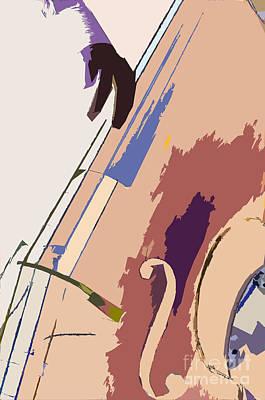 Double Bass Photograph - Jazz Bass Illustration by Konstantin Sevostyanov