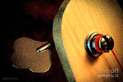 Jazz Bass Tuner Art Print