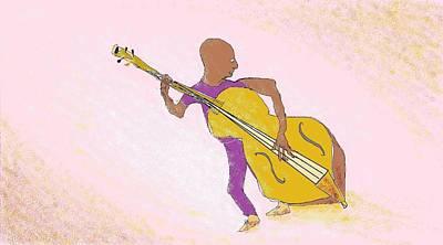 Digital Art - Jazz Bassist by Jim Taylor
