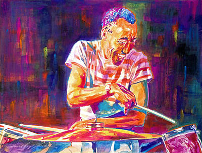 Jazz Painting Royalty Free Images - Jazz Beat Royalty-Free Image by David Lloyd Glover