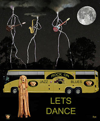 Jazz Blues Lets Dance Print by Eric Kempson