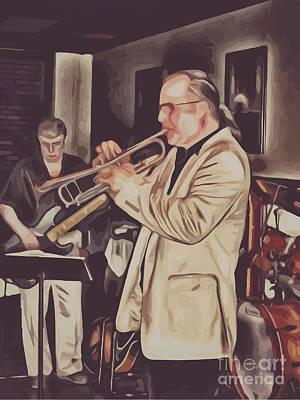 Digital Art - Jazz Club by Richard Jones