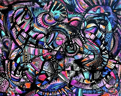 Painting - Jazz Club Tour by Expressionistart studio Priscilla Batzell