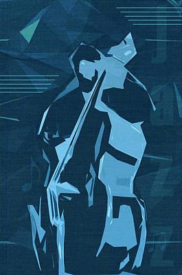 Jazz Digital Art - Jazz Contrabass Poster by Konstantin Sevostyanov