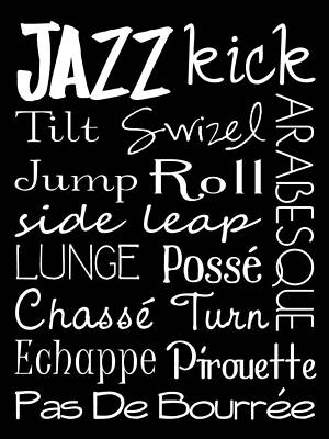 Jazz Dance Subway Art  Poster Art Print