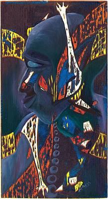 Afro Mixed Media - Jazz Dreams by Richard Press