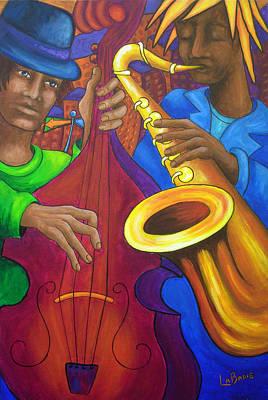 Painting - Jazz En Ville by Manon LaBadie