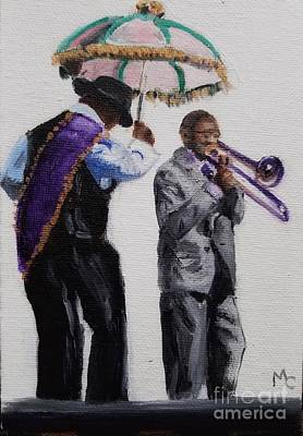 Painting - Jazz Fest by Mary Capriole