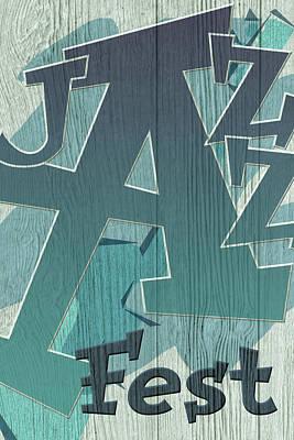 Digital Art - Jazz Fest Sign by WB Johnston