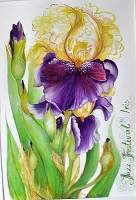 Painting - Jazz Festival Iris by Barbara Anna Cichocka