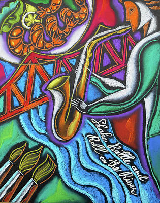Jazz, Food And Art Festival Art Print by Leon Zernitsky