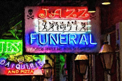 Photograph - Jazz Funeral Impasto by Kathleen K Parker