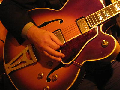 Photograph - Jazz Guitar  by Anita Burgermeister