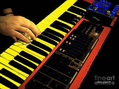 Photograph - Jazz Hands At Keyboard - Paintograph by Christine S Zipps