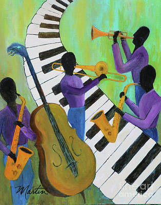 Trumpet Painting - Jazz In A Cool Mood II  by Larry Martin