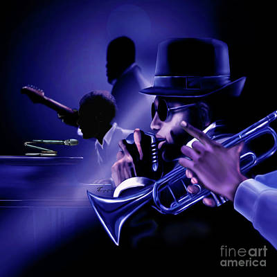 Painting - Jazz In Da Dusk by Reggie Duffie