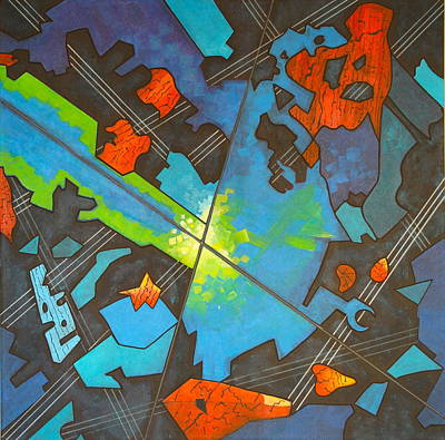 Cosmology Painting - Jazz Intersection by Diana Perfect