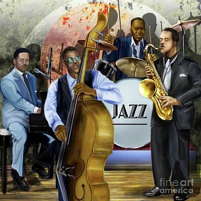 Painting - Jazz Jazz Jazz by Reggie Duffie