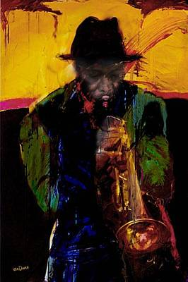 Jazz Man 3 Art Print by James VerDoorn
