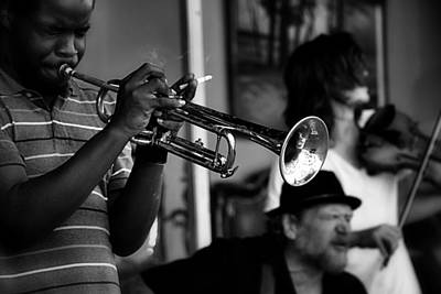 Photograph - Jazz Men In Black And White by Nadalyn Larsen