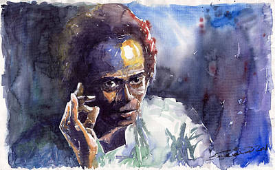 Miles Davis Painting - Jazz Miles Davis 11 by Yuriy  Shevchuk