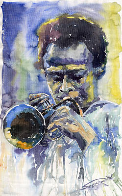 Jazz Wall Art - Painting - Jazz Miles Davis 12 by Yuriy Shevchuk