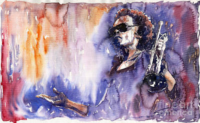 Music Painting - Jazz Miles Davis 14 by Yuriy  Shevchuk