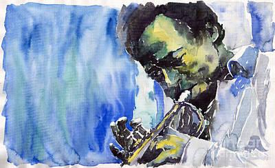 Painting - Jazz Miles Davis 5 by Yuriy Shevchuk