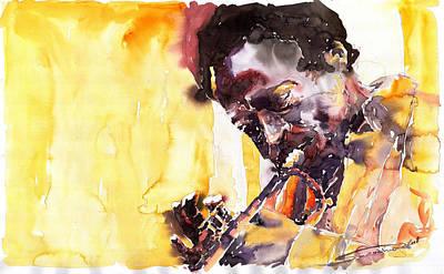 Miles Davis Painting - Jazz Miles Davis 6 by Yuriy  Shevchuk