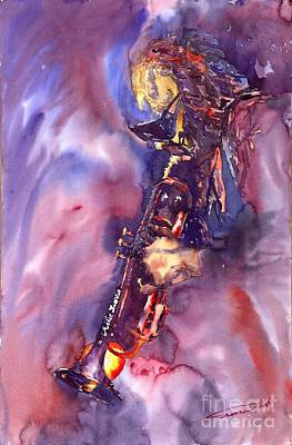 Figurative Painting - Jazz Miles Davis Electric 3 by Yuriy  Shevchuk