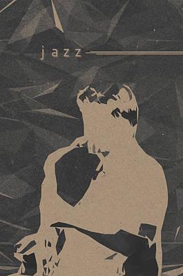 Saxophonist Mixed Media - Jazz Music Poster by Konstantin Sevostyanov