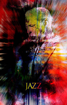 Sound Digital Art - Jazz Music by Steve K