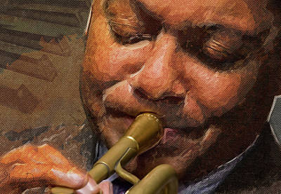 Digital Art - Jazz Musician by Gary De Capua