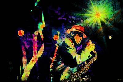 Free Jazz Photograph - Jazz Musician by Jean Francois Gil