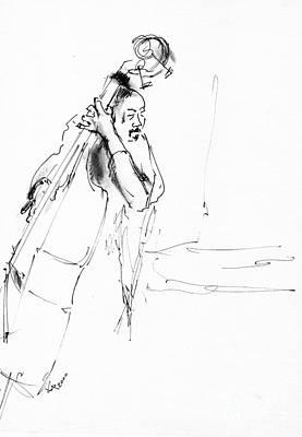Musican Drawing - Jazz Musician_23 by Karina Plachetka