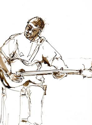 Figurativ Painting - Jazz Musician_6 by Karina Plachetka