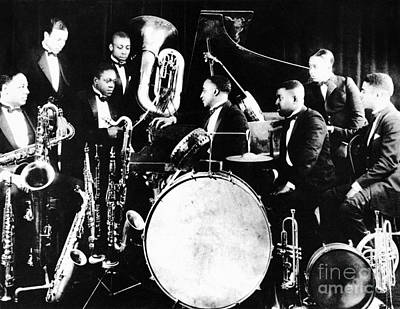 Harlem Wall Art - Photograph - Jazz Musicians, C1925 by Granger